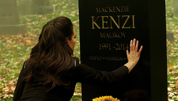Bo at Kenzi's grave